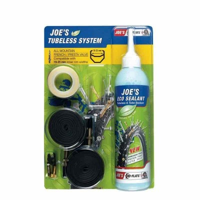 Kit de conversion a Tubeless Joe's valvula fina amarilla