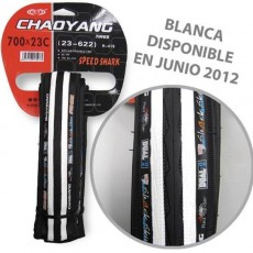 Cubierta Chaoyang Plegable Speed Shark carretera blanca/negra