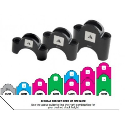 Aerobar Bracket Riser Kit 60 mm