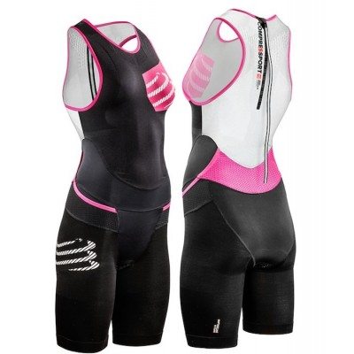 Mono triatlon Compressport TR3 Areo Suit mujer