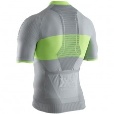 Maillot X Bionic Regulator Bike Race Zip Hombre Grey Yellow