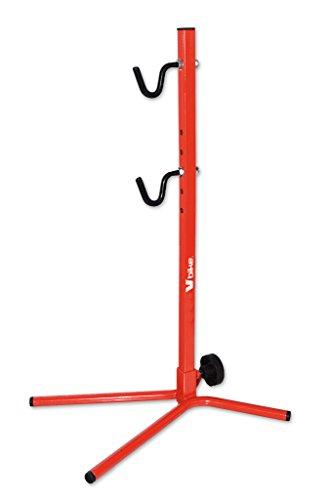 Soporte trasero ajustable para garajes, con cubierta roja hasta 29 bicicletas