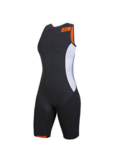 Spiuk Sprint - Tritraje para Mujer, Color Negro/Naranja, Talla M