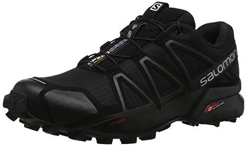 Salomon Speedcross 4, Zapatillas de Trail Running Hombre, Negro (Black/Black/Black Metallic), 43 1/3...