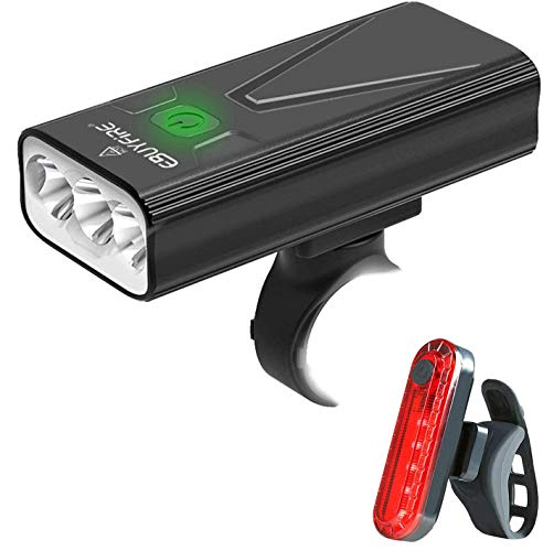 EBUYFIRE Luz Bicicleta LED Recargable USB, 3000 Lumens 5200 mAh Potente Luces Bicicleta Delantera y...