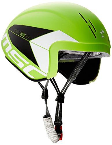 MSC Bikes Aero Casco de Ciclismo, Verde, M/L