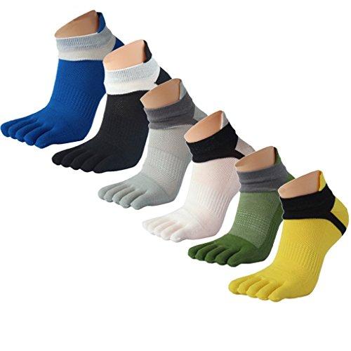 Panegy - Pack de Calcetines de 5 Dedos para Hombres para Deportes Sport Cilclismo Running para...