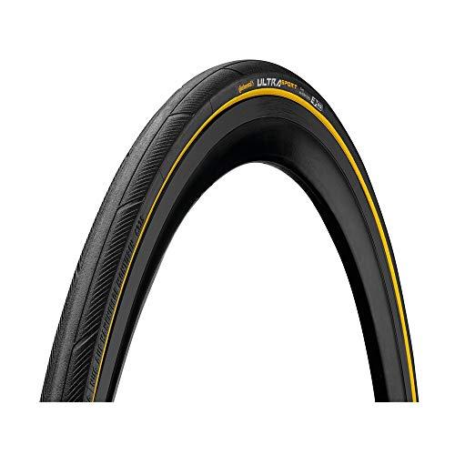 Continental Cubierta Carretera Ultra Sport III Negro-Amarillo-Medidas: 700 x 25 Neumáticos para...