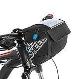 Docooler 3L bicicleta bolsa para manillar, función multi touch screen Bike manillar bolsillos