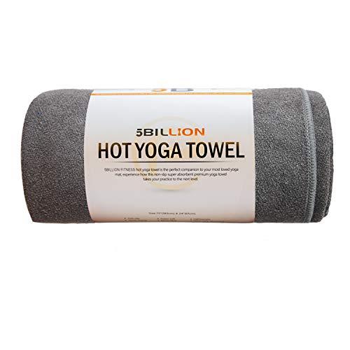 5BILLION Microfibra Toalla de Yoga - 183cm x 61cm - Hot Toalla de Yoga, Bikram Toalla de Yoga,...