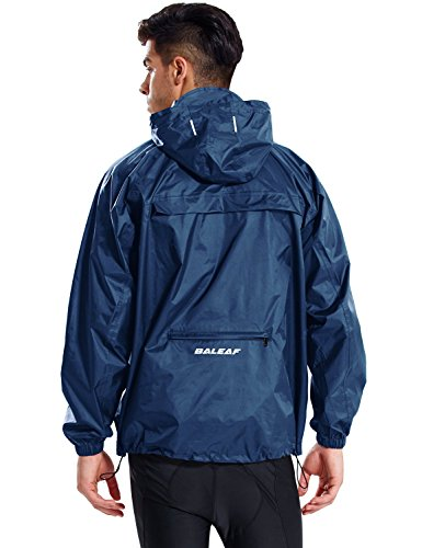 BALEAF - Chubasquero impermeable para hombre, con capucha, ligero, plegable, para correr, ciclismo,...