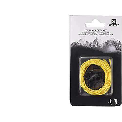 Salomon Quicklace Kit Unisex Cordones de repuesto, Amarillo (Yellow), One Size