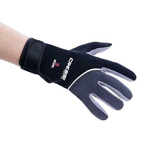 Cressi Tropical Gloves Guantes de Neopreno y Amara de Buceo Adulto 2 mm, Unisex, Negro, L