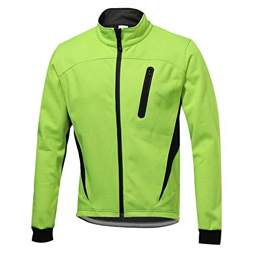 SUKUTU Chaqueta Impermeable de Ciclismo para Hombre Chaquetas de Bicicleta Transpirables térmicas...