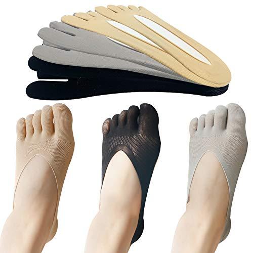EQLEF Calcetines Dedos, Antideslizantes, Calcetines de Cinco Dedos, Calcetines Suaves de Corte bajo,...
