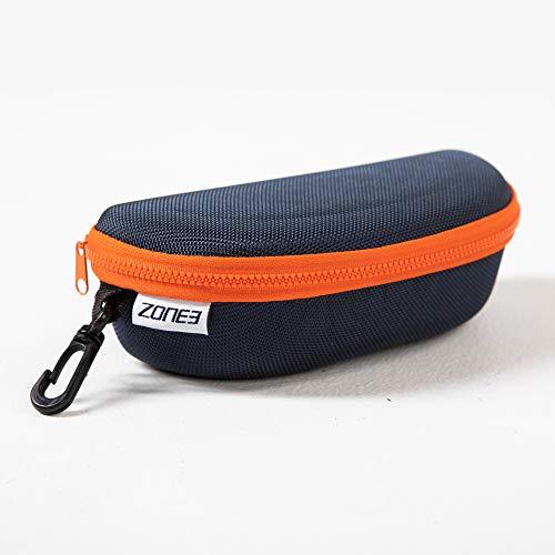 ZONE3 Swim Funda para Gafas de natación, Unisex, Azul Oscuro y Naranja, tamaño único