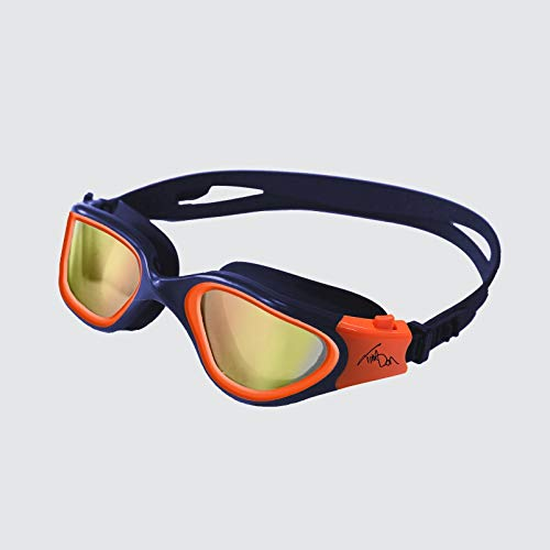 ZONE3 Vapour Gafas de natación, Unisex Adulto, Tim Don Exclusive (Navy/Neon Orange), Talla única