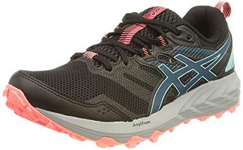 Asics Gel-Sonoma 6, Zapatillas para Carreras de montaña Mujer, Black/Deep Sea Teal, 39.5 EU
