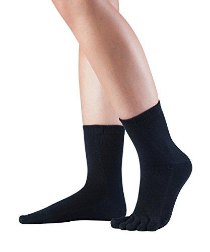 Knitido Essentials Midi | Calcetines con dedos en algodón hombre y mujer para uso cotidiano,...