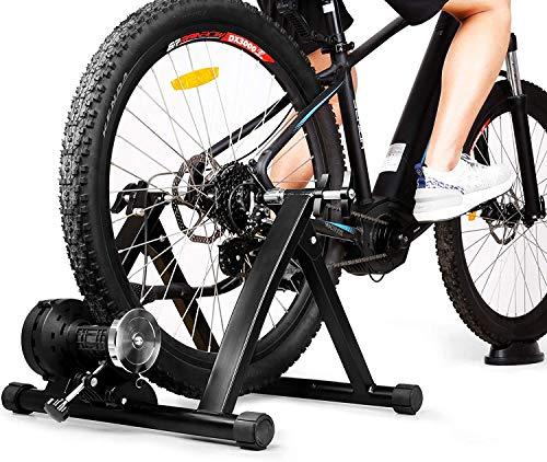 INTEY Rodillo Bicicleta Plegable, Rodillo Magnético de Ciclismo con 6 Niveles de Resistencia,...