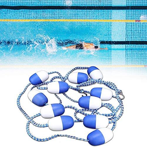 HYCR 5 m cuerda divisora de seguridad para piscina, cuerda flotante para natación, carril de...