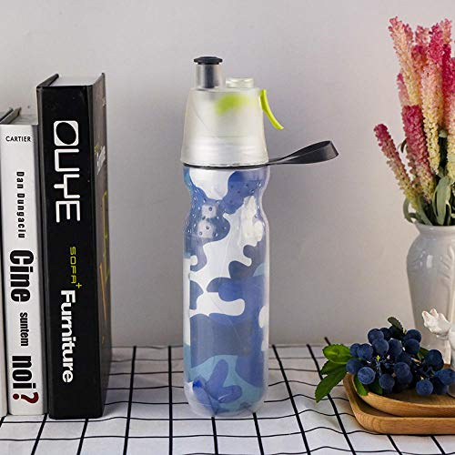 Botella de Agua Deportiva,Prueba de Fugas, Botella Agua Reutilizable para Excursionismo, Ciclismo,...