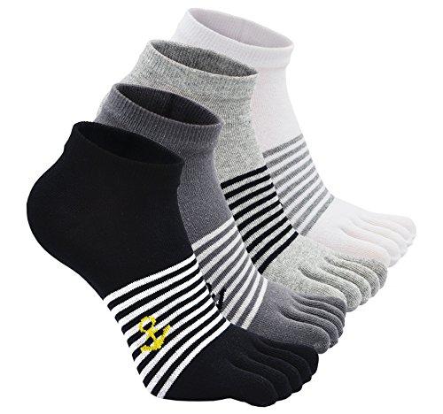 Calcetines de 5 Dedos para Hombres para Deportes Ciclismo Correr, Hombre Calcetines del dedo del...