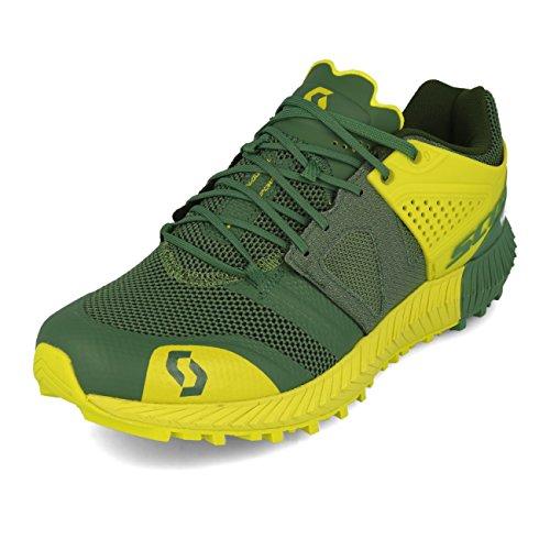 Scott - Zapatillas de Running de Tela, sintético para Hombre Amarillo Yellow Black, Color Verde,...
