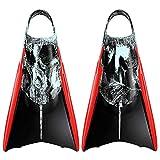 Kpaloa Aletas de natación Triton Storm Bodysurf Bodyboard, Large, Negro, Gris
