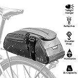 Bolsa de bastidor reflectante para bicicleta, maleta para asiento trasero de bicicleta resistente al agua Bolsa de almacenamiento para maletero de transporte de maletero de carga con capacidad de 8L