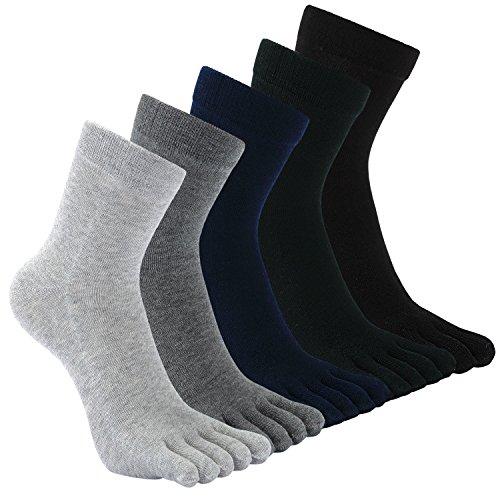 Teenloveme Calcetines de 5 Dedos para Hombres para Deportes Ciclismo Correr, Hombre Calcetines del...