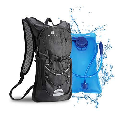 Mochila de hidratación de 2L con bolsa de bicicleta de vejiga de hidratación para correr al aire...