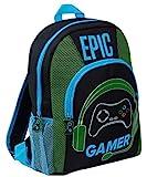 Epic Gamer - Mochila para niños, adolescentes, adultos, viajes, escuela, juegos, con soportes para botellas, Negro  (Negro) - MNCK10310