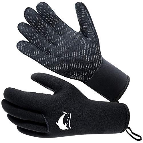 RTDEP Guantes de neopreno de 3 mm antideslizantes guantes de natación guantes de agua de cinco...