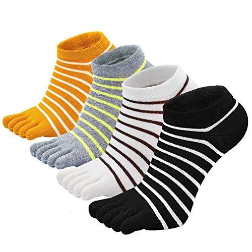PUTUO Calcetines de Dedos Mujer Calcetines Cinco Dedos de Deporte, Mujer Calcetines del Dedo del...